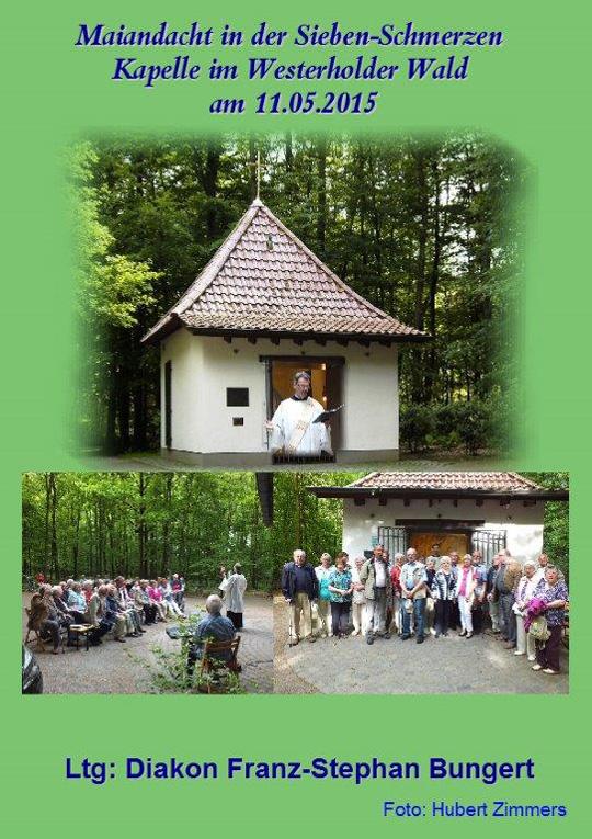 Maiandacht der Kolpingsfamilie im Westerholter Wald