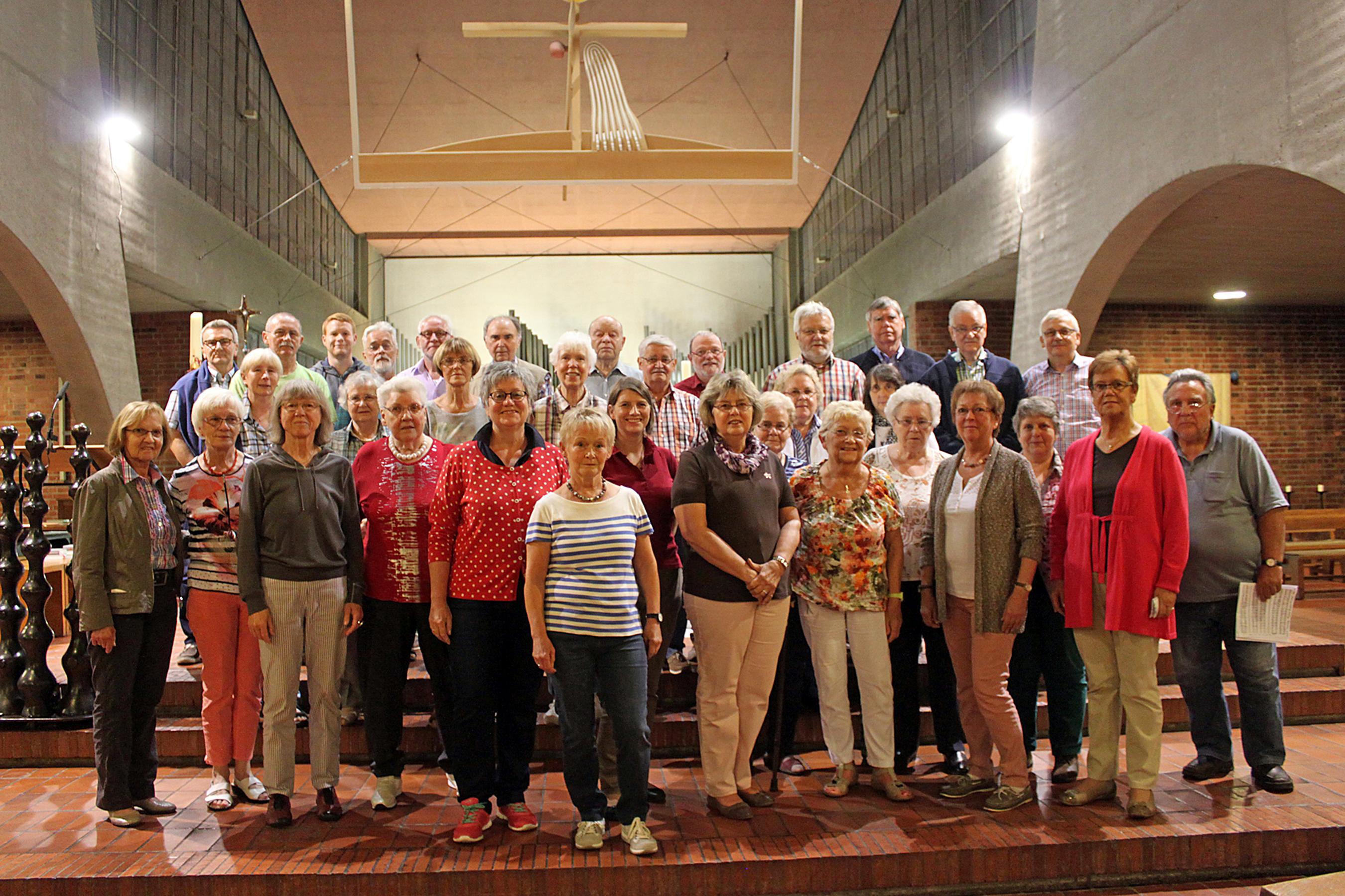 Die Chorgemeinschaft Heilig Geist und Heilige Schutzengel der Gemeinde St. Joseph geht in Rente