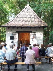 Maiandacht der Kolpingsfamilie an der Siebenschmerzenkappelle in Gelsenkirchen